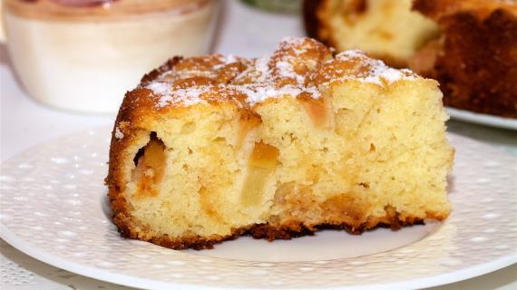 Пирог с корицей и яблоками рецепт с фото пошагово в духовке