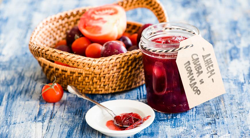 Джем из сливы и помидоров, пошаговый рецепт с фото