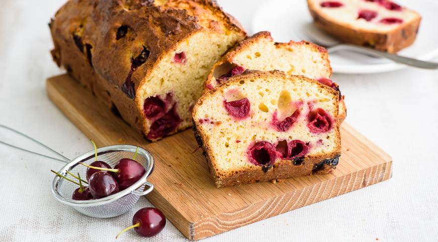 творожный пирог с вишней рецепты