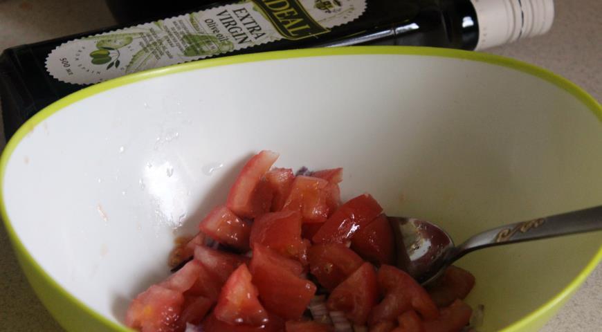 Салат из белой фасоли с чоризо. Шаг 3