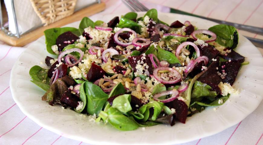 Свекольный салат с кускусом