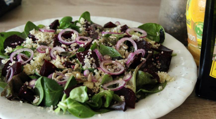 Свекольный салат с кускусом. Шаг 6
