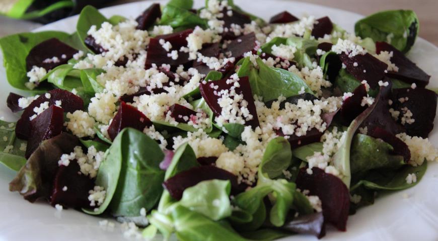 Свекольный салат с кускусом. Шаг 4