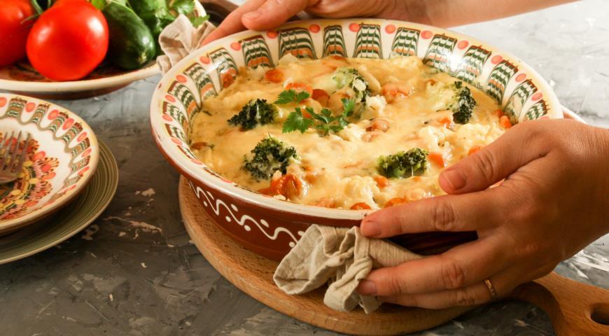 Запеканка из цветной капусты и брокколи, пошаговый рецепт с фото