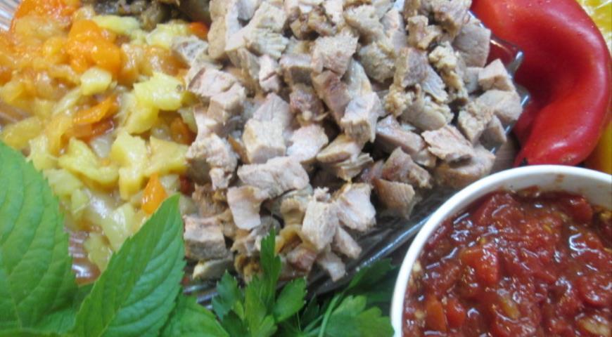 Салат из запеченных овощей с утиными грудками. Шаг 6