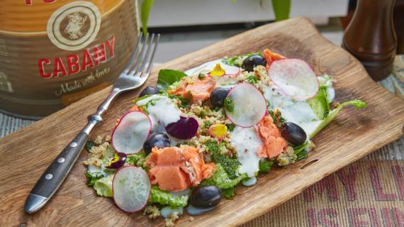 Летний салат с неркой