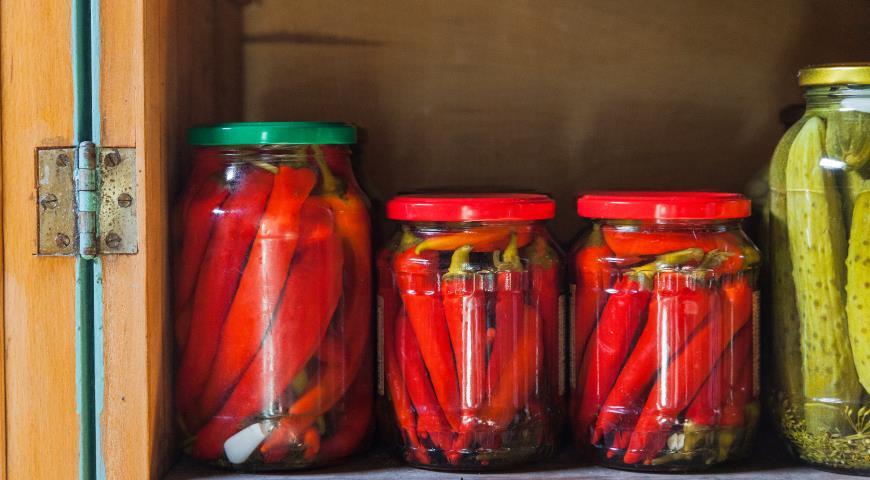 Перец острый маринованный, пошаговый рецепт с фото