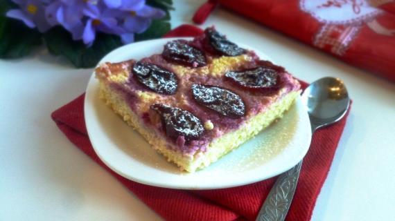 Творожный пирог со сливами рецепт пошагово