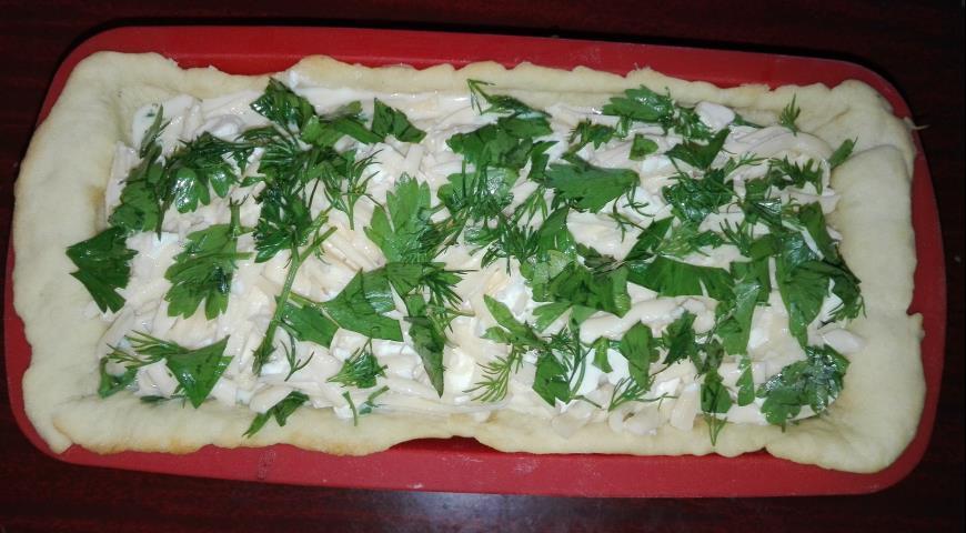 Вкусный пирог с тыквой и грибами - рецепт пошаговый с фото