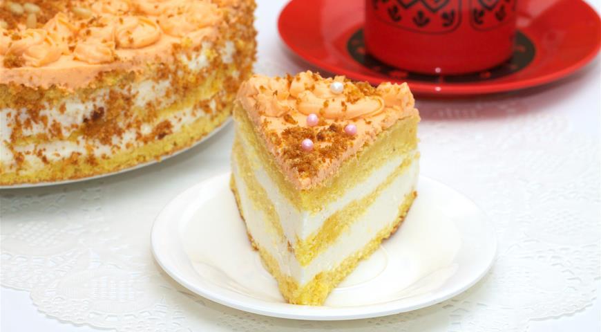 Торт из шифонового тыквенного бисквита 2
