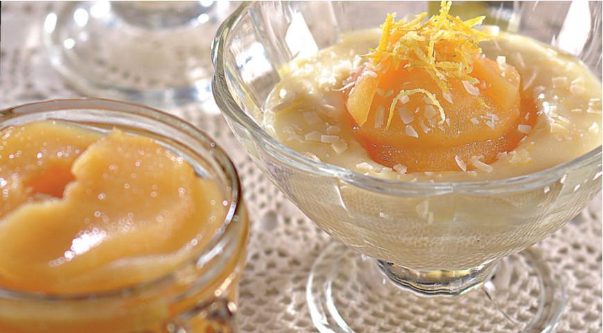 Желе из айвы с лимонно-миндальным кремом, пошаговый рецепт с фото