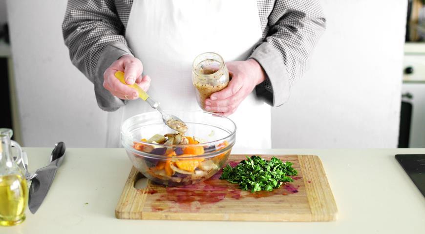 Салат з запечених овочів