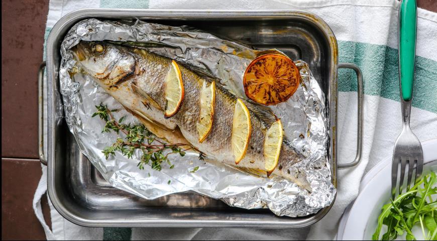 сибас в духовке в фольге пошаговый рецепт