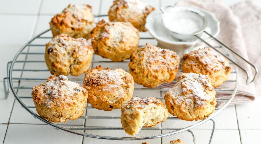 Печенье с изюмом пошаговой рецепт