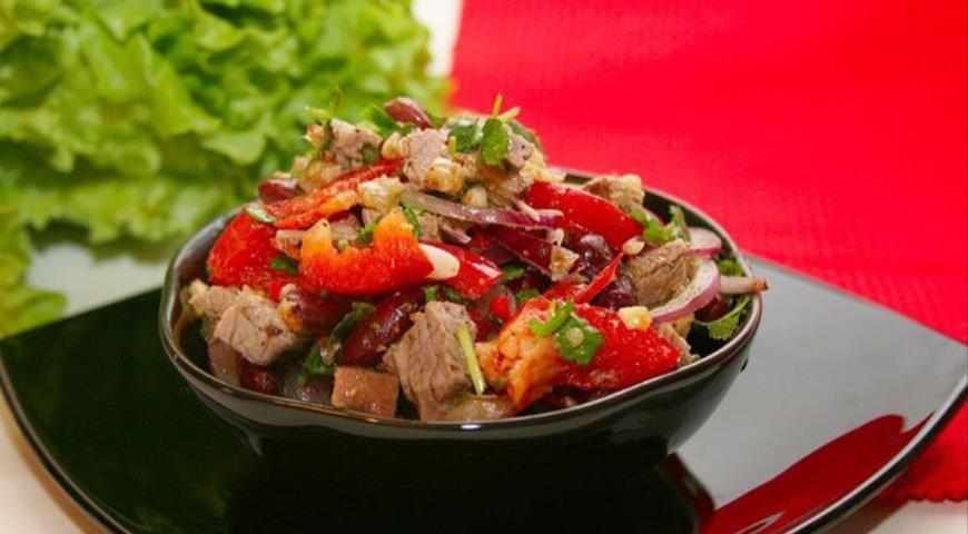 Салат тбилиси пошаговый рецепт с фото