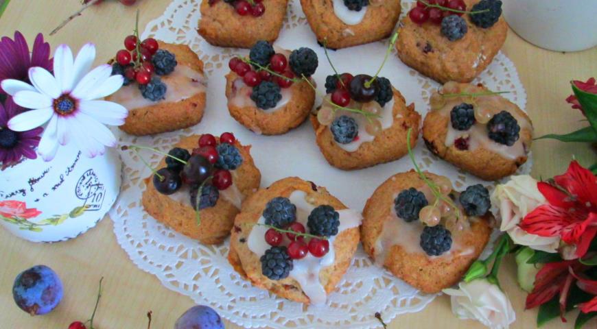 Быстрые ягодные кексы на завтрак, пошаговый рецепт с фото