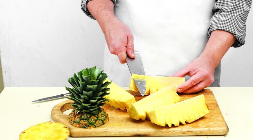 Как разделать ананас, пошаговый рецепт с фото
