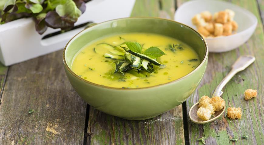Густой суп из цуккини