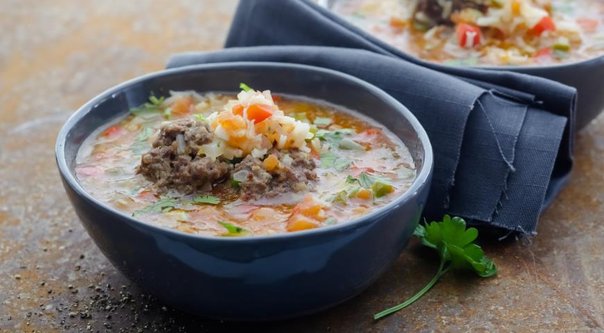 рецепт томатного супа с фрикадельками и нутом