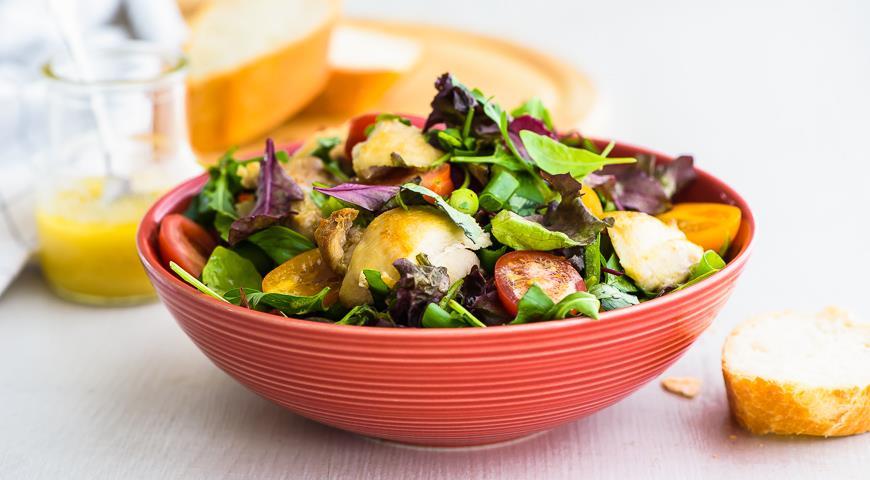 салат из курицы и черри рецепт