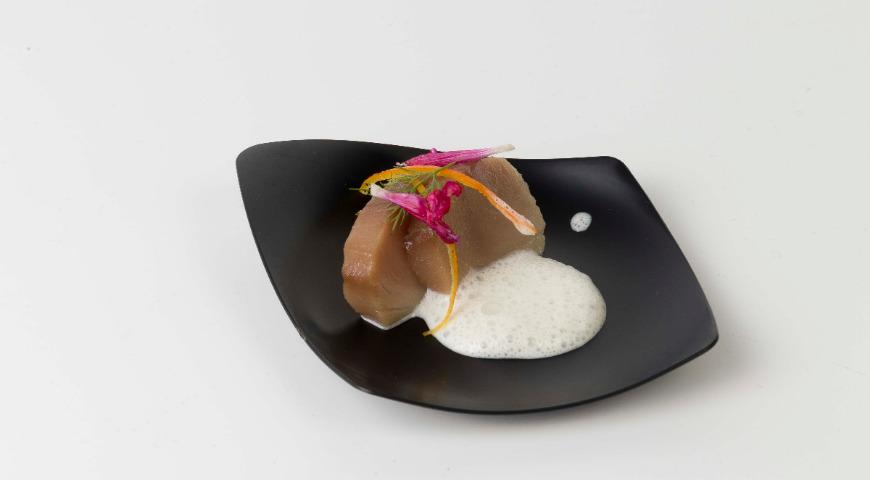 Блюдо Мехмета Гюрса на конгрессе Gastronomica