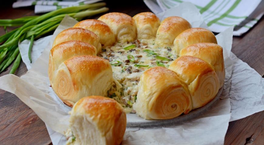 Булочки-малышки с сырно-грибной начинкой 2
