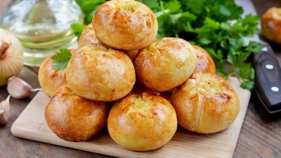 Пирожки кныши с картошкой