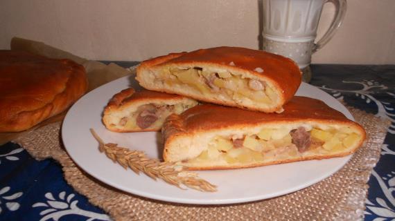 Бабушкины пироги с картофелем и утиным мясом