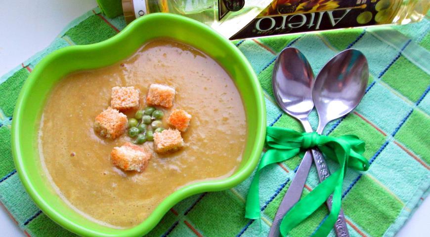 Суп-пюре из зеленого горошка. Шаг 3