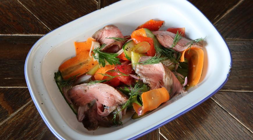 Дрезденский салат с ростбифом, пошаговый рецепт с фото
