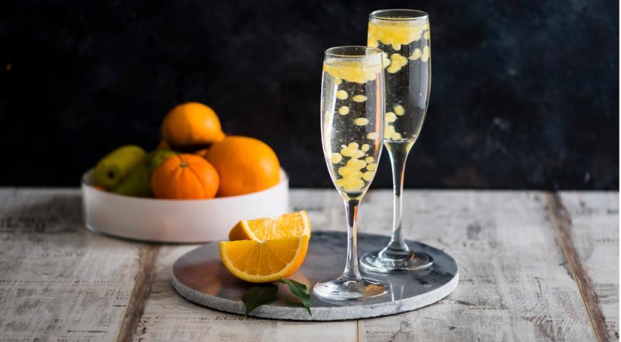 Коктейль - Шампанское с икрой, пошаговый рецепт с фото