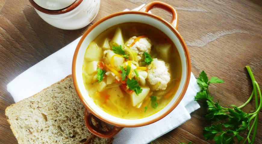 суп рассольник с фрикадельками пошаговый рецепт