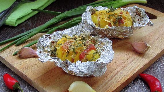 картошка в чесночном масле рецепт с фото