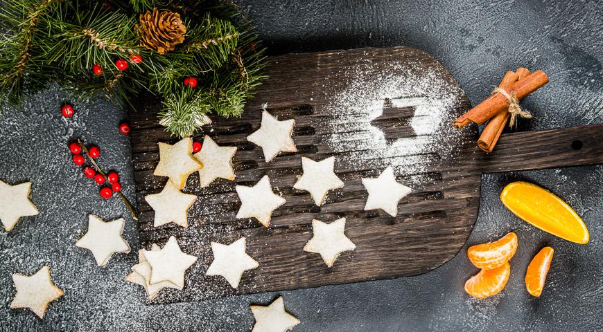 Печенье Апельсиновые звёзды с корицей, пошаговый рецепт с фото