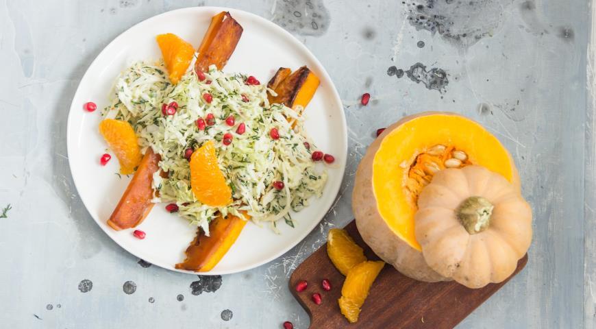 Салат из тыквы спекинской капустой, пошаговый рецепт с фото