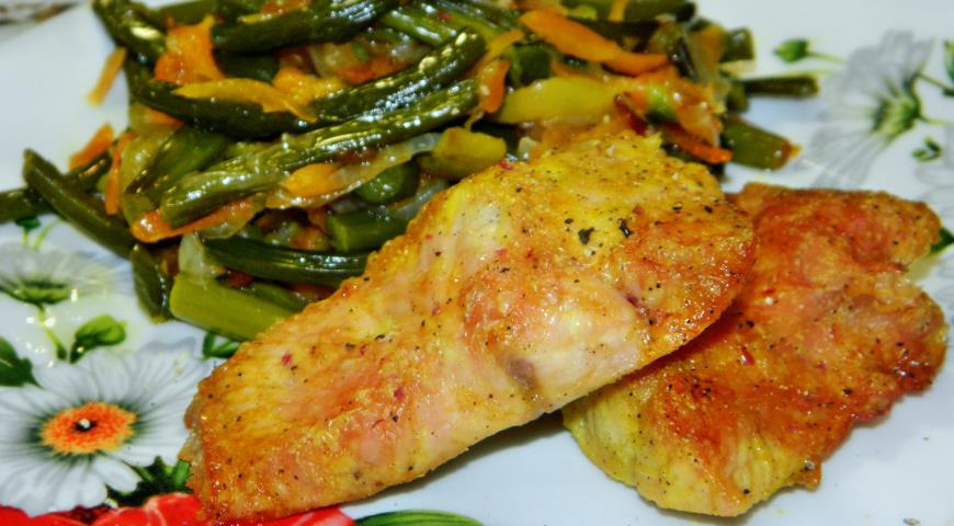 Индейка филе с овощами рецепт с пошагово в