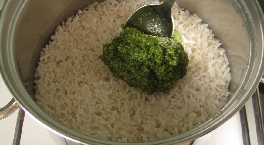 Запеканка рисовая с лососем. Шаг 6