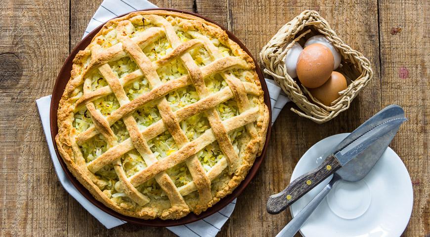 Простой пирог с капустой, пошаговый рецепт с фото
