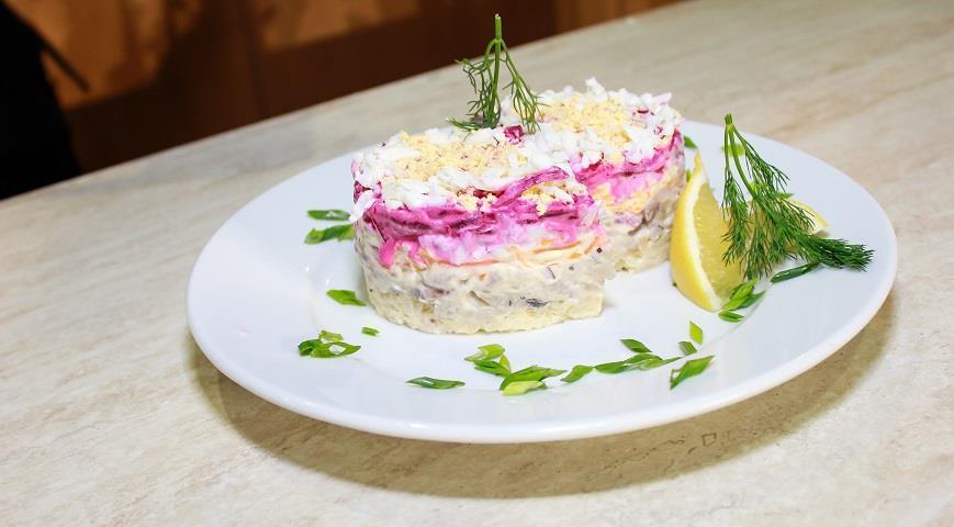 Новый салат с с селедкой