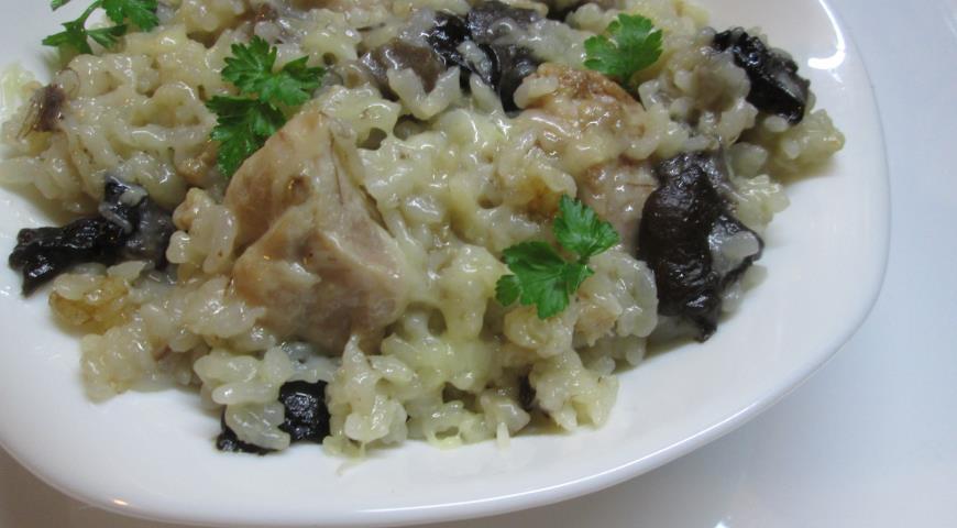 Рецепт: Ризотто с курицей и грибами - все рецепты России