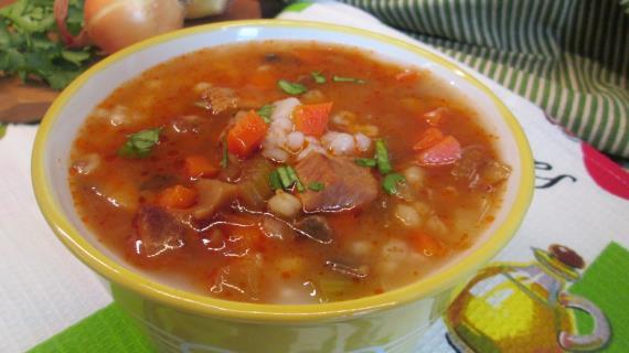 Орзо - суп с перловой крупой