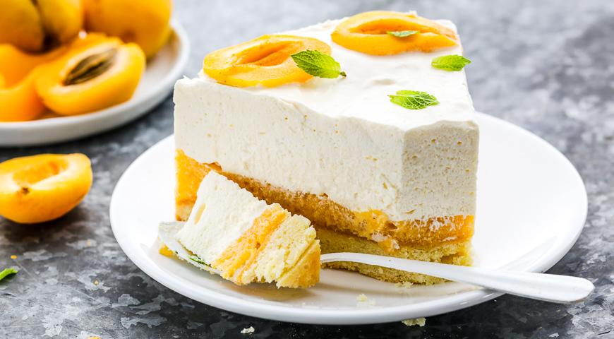 Торт муссовый с абрикосами, пошаговый рецепт с фото