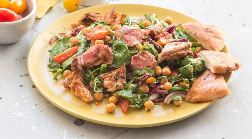 рецепты салатов с бараниной