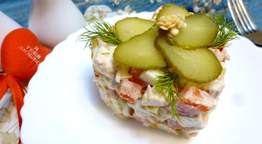 салат с куриной грудкой рецепт с фото пошаговый рецепт