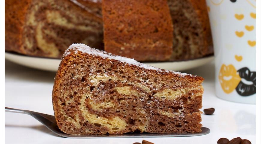Мраморный пирог рецепт с фото пошагово переход коричневого