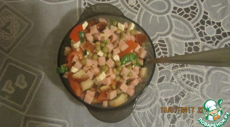 легкий салат рецепт мясо