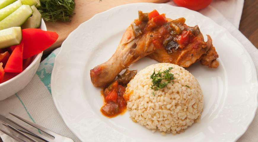 Курица, тушенная с овощами рецепт с фото пошаговый Едим 29