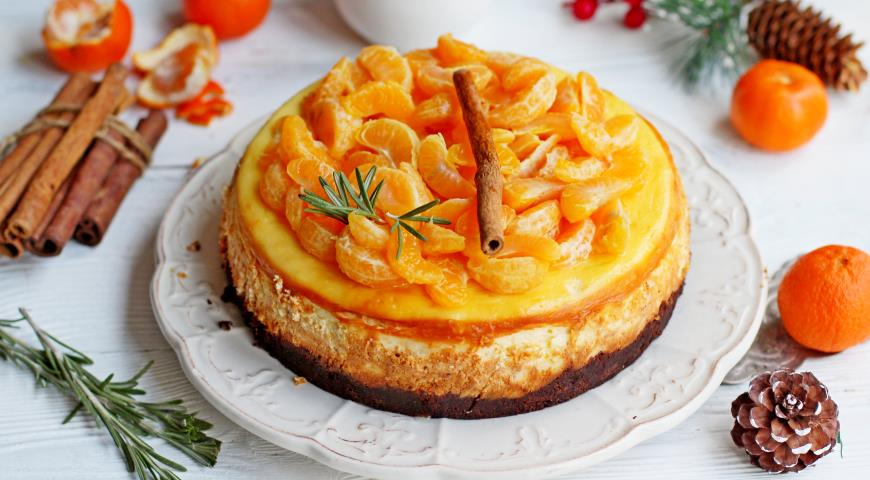Чизкейк с пряными мандаринами 2