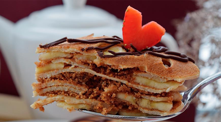 блинный торт рецепт с бананом