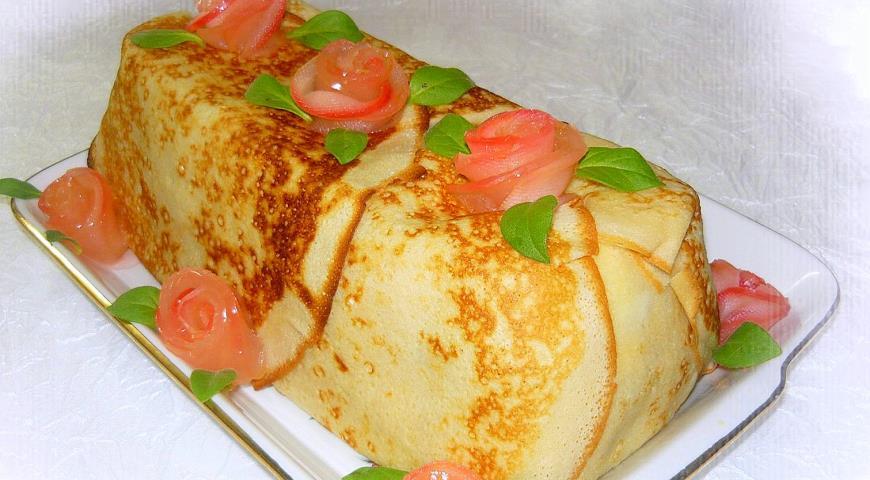 Блинный торт с пошаговый рецепт
